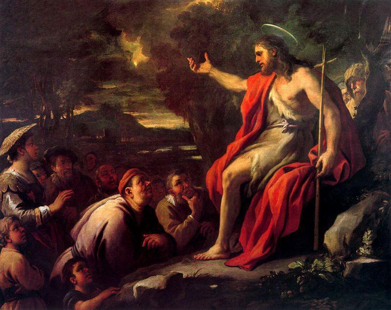 Luca Giordano (1634-1705): Ivan Krstitelj propovijeda